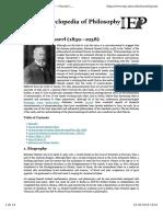 IEP - Internet Encyclopedia of Philosophy - Edmund Husserl