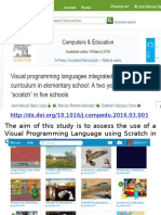 Scratch research audio slides visual programming language