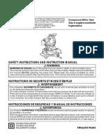 Manual de instrucciones para equipo marcador laser Hitachi
