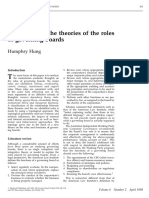 A typology of the theories of the roles of governing boards Humphry Hung