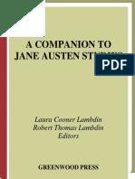 A Companion to Jane Austen Studies by Laura Cooner Lambdin