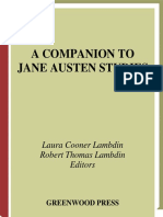 A Companion to Jane Austen Studies by Laura Cooner Lambdin