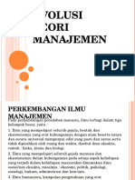 Bab 2 Evolusi Teori Manajemen