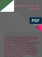 Generación del 98´ en España