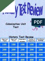 Colonization Unit Test Jeopardy Review