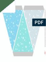 FROZEN Guinalda Copos Nieve a Imprimir