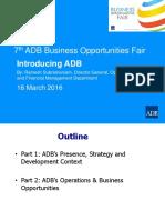 2 Plenary - Introducing ADB by RSubramaniam 15Mar2016