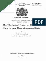 Newtonian Theory Hypersonic