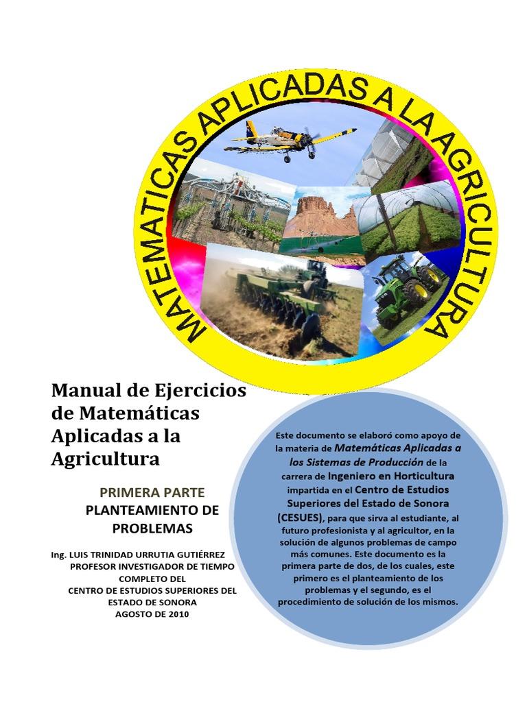 Ejercicios de Matematicas Aplicadas a la Agricultura
