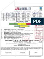 Calibracion y Montaje de Instrumentos-D