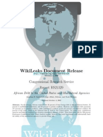CRS - RS21329 - African Debt to the United States and Multilateral Agencies