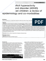 Attention Deficit Hyperactivity Symptoms and Disorder Among African Children