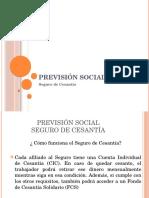 Previsión Social - Seguro de Cesantía