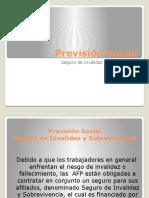 Previsión Social - Seguro de Invalidez y Sobrevivencia