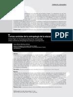 Temas centrales de la antropologia de la educacion contemporanea
