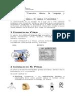 Guía Comunicación Verbal, No Verbal y Paraverbal - I Medio