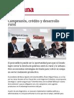Campesinos Creditos y Desarrollo Rural_Semana