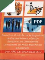 Planificacion curricular de Emprendimiento y Gestion