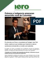 Pobreza e Indigencia Amenazan Desarrollo Rural de Colombia_Dinero