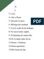 Lista de Temas Domingo 13