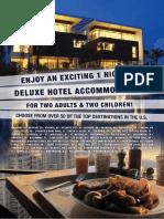 1 night hotel stay