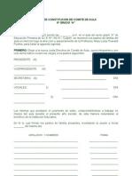 ACTA DE CONSTITUCION DE COMITÉ DE AULA
