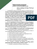 Institui as Diretrizes Curriculares Nacionais Do Curso Direito