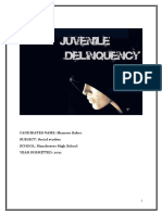 JUVENILE DELIQUENCY IN COMMUNITY