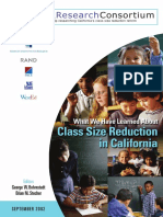 What We Have Learned About Size Class Reduction in California