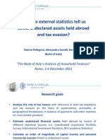 What do external statistics tell us about undeclared assets held abroad and tax evasion? (Pellegrini et al, 2015)