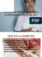 Cuidados de Enfermeria a La Persona Con Diabetes