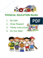 physical education rules consequences poster