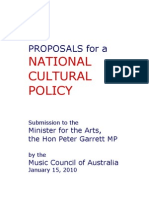 The Development of a National Cultural Policy