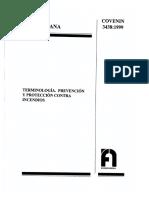 3438-1999 Terminologia. Prevencion y Proteccion Contra Incen