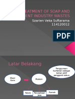 Treatment of Soap and Detergent Industry Wastes