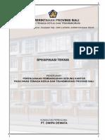 Bab XII. Spesifikasi Teknis Pemb. Gedung Kantor Disnaker Prov. Bali