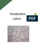 Vocabulario Latino.
