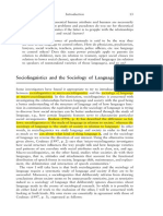 Sociolinguistics and Sociology of Language