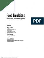 Food Emulsions 4 Ed