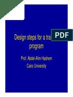 Design Steps for a Training Program