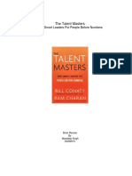 The Talent Masters-The Talent Masters-Book Review by Mandeep Singh