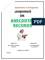 1)Anecdotal Record
