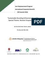 Widyanto-Women Empowerment Program - 8th International Corporate Brand & CSR Indonesian Summit 2016