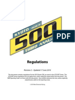 2010 Kyoto 500 Rules and Regulations