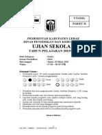 Soal Us Kimia 2015-2016 Paket d