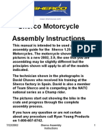 Sherco Motorcycle Assembly Instructions