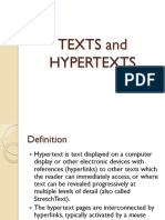 PPT - Texts and Hypertexts