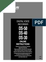 OLYMPUS DS-50 DS-40 DS-30 Instructions En