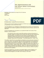 Letter From Bernard Jenkin to Jeremy Heywood 08-03-16