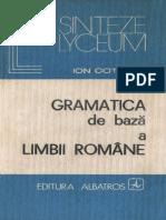 Ion Coteanu Gramatica de Baza a Limbii Romane